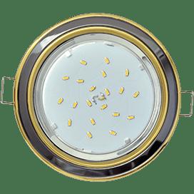 Светильник Ecola GX53 H4 встраив. без рефл. 2 цв. золото-черный хром-золото 38х106