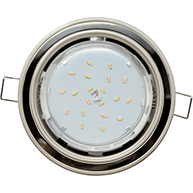 Светильник Ecola GX53 H4 встраив. без рефл. 2 цв. жемчуг-черный хром-жемчуг 38х106