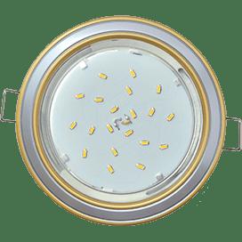 Светильник Ecola GX53 H4 встраив. без рефл. 2 цв. золото-серебро-золото 38х106
