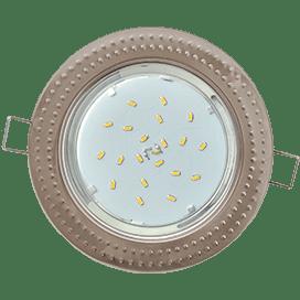 Светильник Ecola GX53 H4 встраиваемый без рефлектора «Чеканка» Сатин хром 43×115