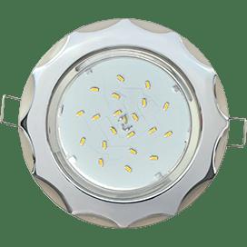Светильник Ecola GX53 H4 встраив. без рефл. «Звезда» хром-жемчуг 38×116