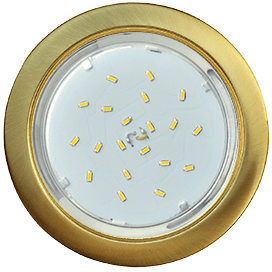 Светильник Ecola GX53 H4 встраиваемый без рефлектора Шлифованное золото 38×106