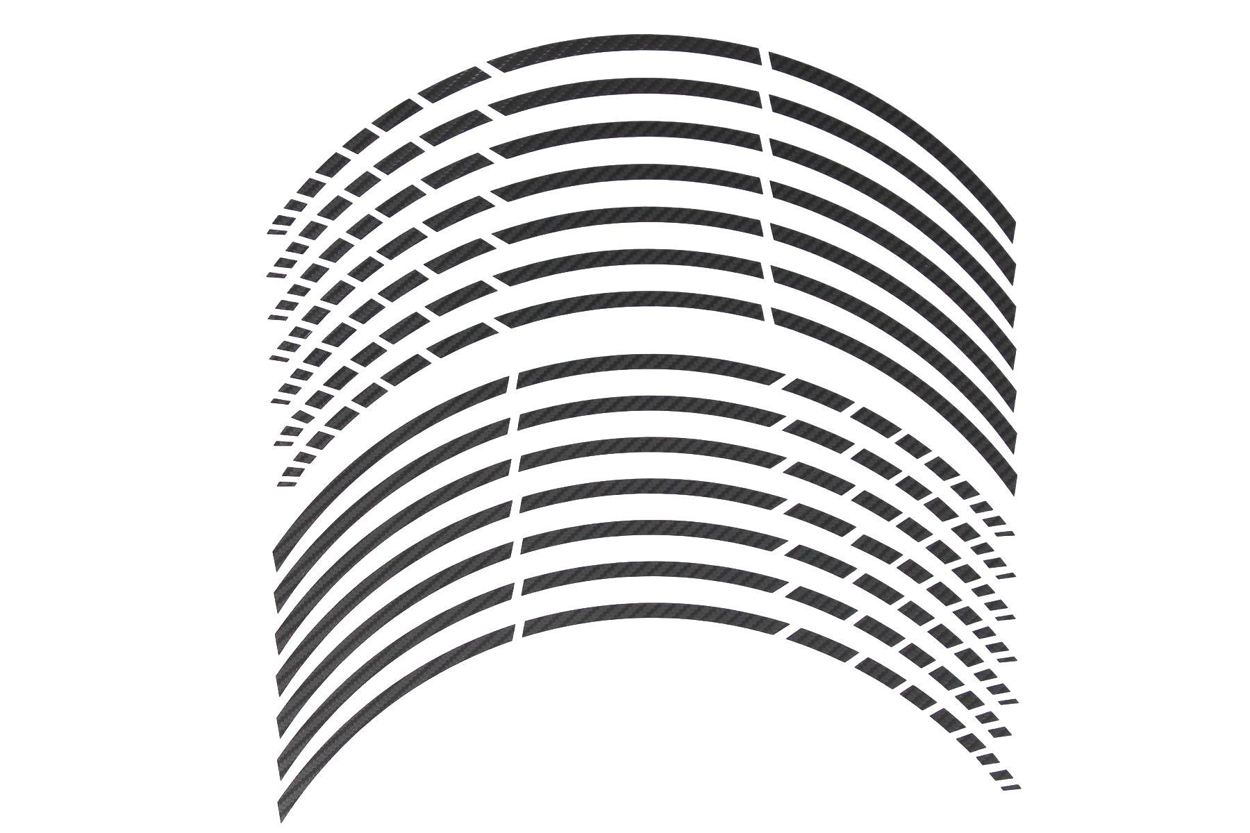 Gp 17 Felgenaufkleber In Der Farbe Carbon Schwarz