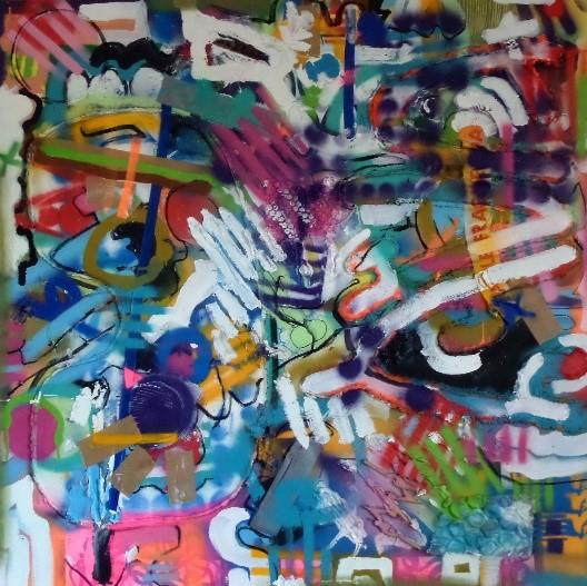 mixed media on canvas 100 x 100 cm 2