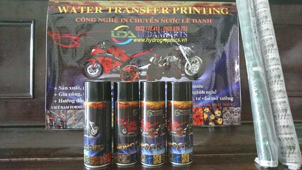 Sơn carbon, in chuyển nước, sơn chuyển nước