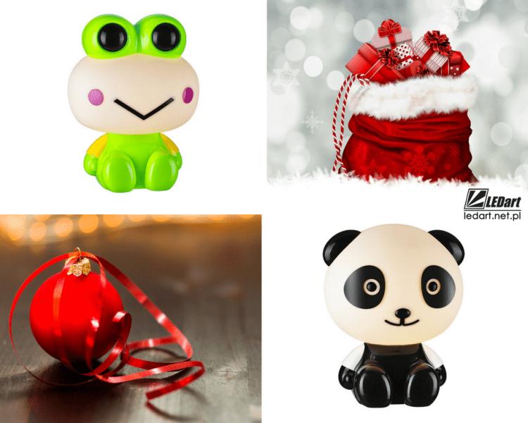 prezent na mikołaja lampka biurkowa led dla dziecka panda żabka
