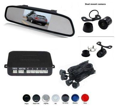 Senzori parcare cu camera video si display LCD de 4.3 in oglinda S604