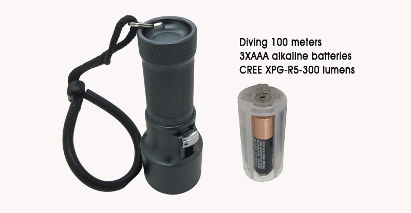 DB300 ledduiklamp batterijen 3 x aaa
