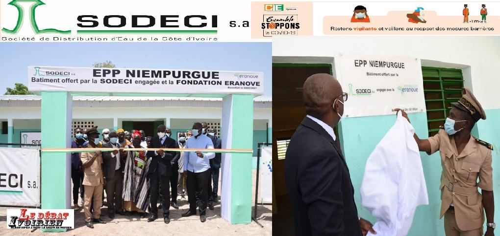 LaSODECI avec l'appui de la Fondation Eranoveoffre un bâtiment de trois salles de classe et un bureau Directeur à l'EPP Niempurgué (BOUNDIALI LEDEBATIVOIRIEN.NET