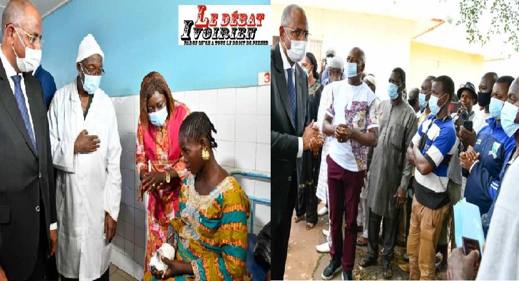 Accident à Ferkéssoudougou : première mission sociale du premier ministre Patrick Achi auprès des victimes et leurs familles ledebativoirien.net