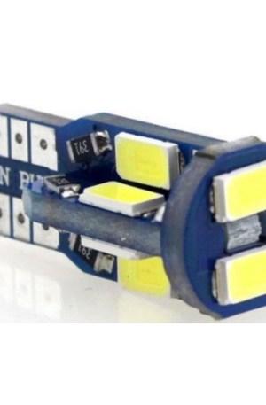 AUTÓS LED T10 CANBUS FEHÉR HELYZETJELZŐ, INDEX-samsung-chip