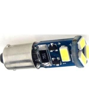 Autós led BA9s canbus fehér helyzetjelző, index világítás, Samsung chip, 5 led