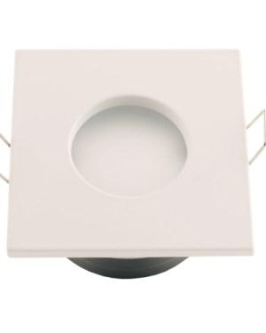 Led beépíthető spot lámpatest alumínium, négyzet, fehér