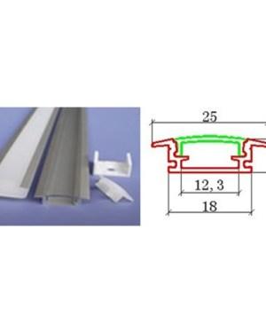Alusín szett, beépíthető, 8-10-12 mm-es led szalaghoz!