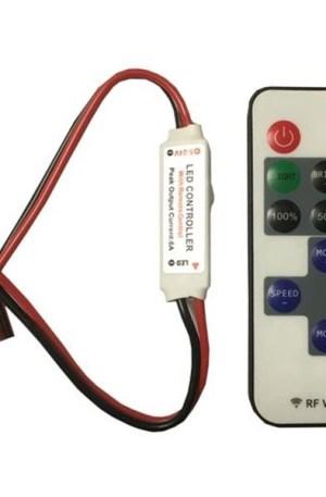 Led szalag dimmer 6A, 72W, 11 gombos rádiós távirányítóval, egyszínű LED szalaghoz LED-modulhoz