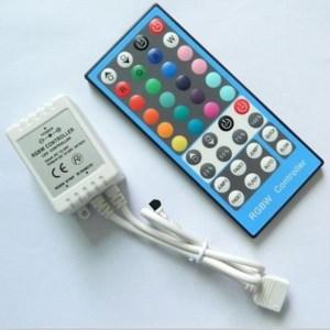 Led szalag vezérlő RGBW, 96W, infrás 40 gombos, RGB+ meleg fehér