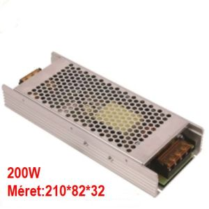 Led tápegység 200W, 12V, keskeny