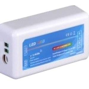 RGB led szalag csoport vezérlő, 216W, rádiós. Csak ezzel együtt működik: RGB led szalag csoport vezérlőhöz távirányító
