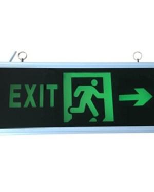 Led Exit lámpa jobb oldalra mutat, kétoldalas, 3H üzemidő, folyamatosan világít.