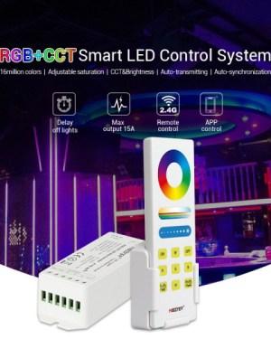 Led szalag vezérlő szett RGB+RGBW+CCT Dimmer, távirányítóval (FUT045A)
