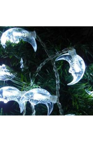 Karácsonyi hold beltéri füzér fára, 40 db, hideg fehér. Folyamatosan világít!