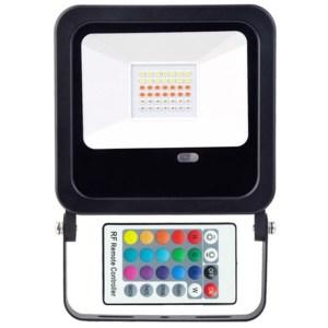 Led reflektor RGB + infra távirányító 30W, 200-1800 Lumen