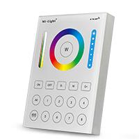 B8 8 zónás RGB+RGBW+CCT+Dimmer fali távirányító