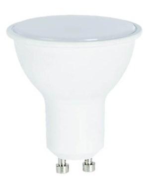 Led GU10 spot égő 8W, 800 Lumen, 80W izzó helyett, 6000K, hideg fehér, tejes búrával.