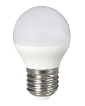 Led körte égő 5W, 50W izzó helyett. 600 Lumen, 6000K, hideg fehér, 45mm, E27 foglalat. Nem vibrál a fénye!