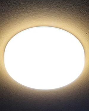 Led panel, oldalra is világít! IP44, vízálló! 10W kör, 1000 lumen, 4000K, közép fehér, 3,3 col. Nem vibrál!