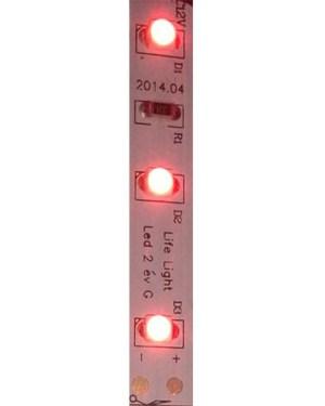 Led szalag 60 led m, 2835 chip, extra fényerő, piros.