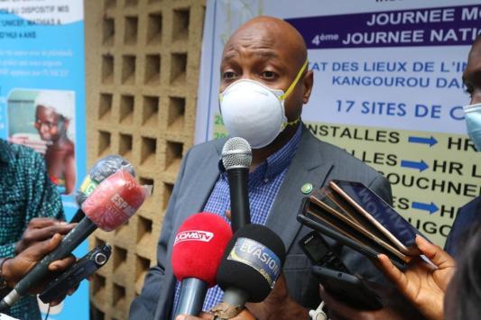 @Saa Momory KOUNDOUNO Dr Bachir Kanté, le chargé de Mission au Ministère de la santé représentant le Ministre de la santé