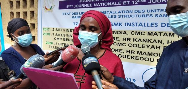 @Saa Momory KOUNDOUNO Dr Kadatou HIV specialist représentant le Représentante adjointe de l'UNICEF à cette célébration