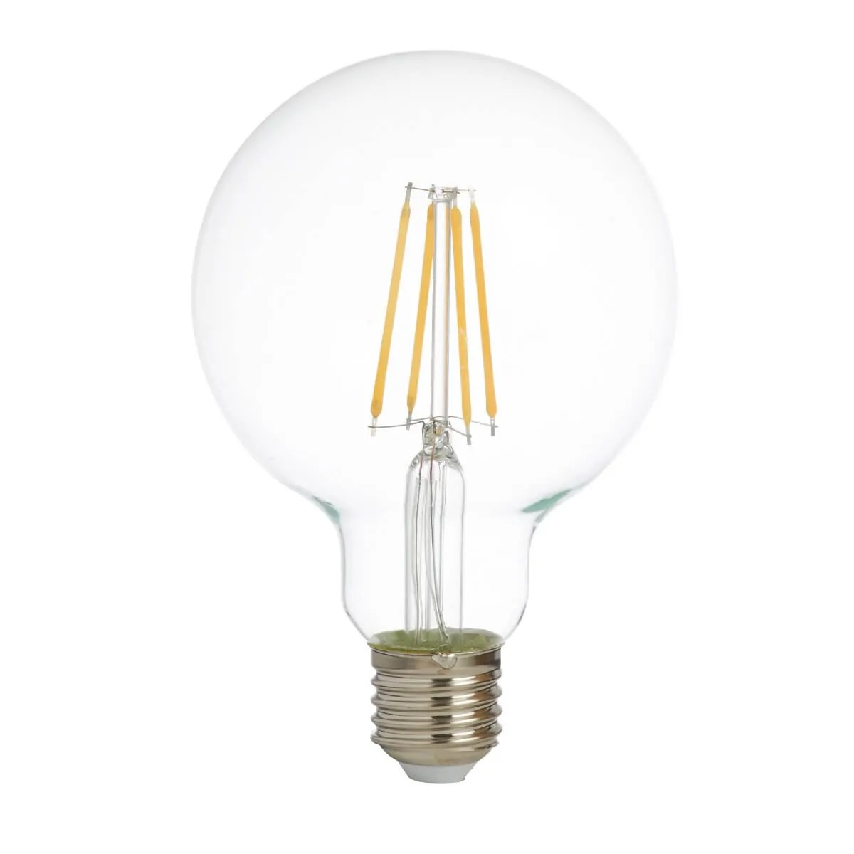 Globe E27 Dimmable Filament Led Lamp 95mm Clear Glass