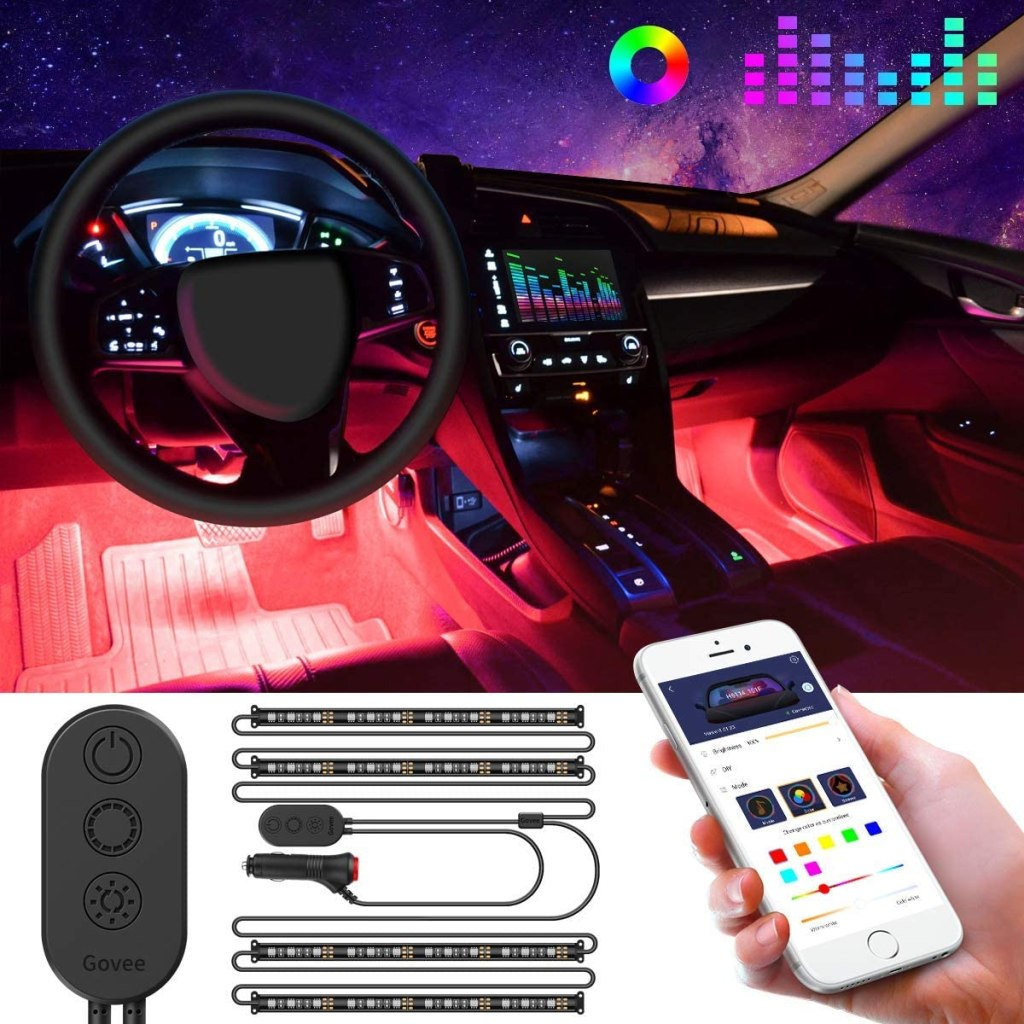 led strip lights for car interior