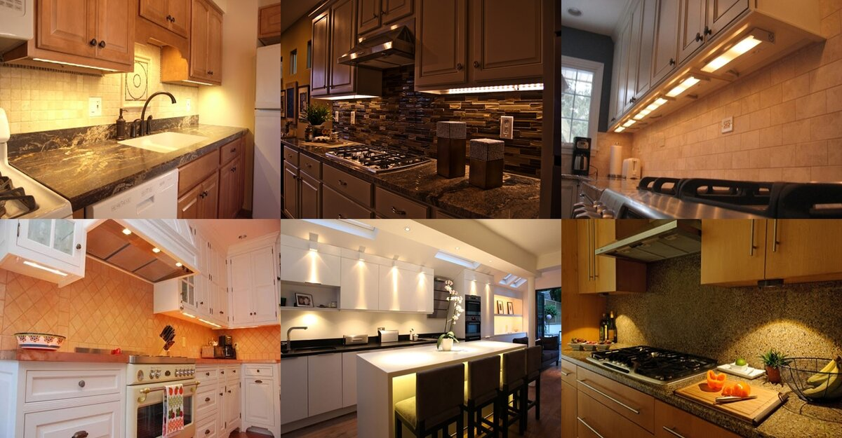 types of under cabinet lighting