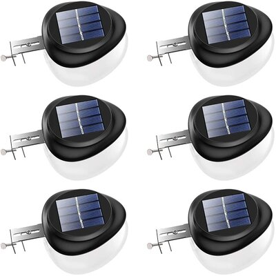 brightest solar fence lights