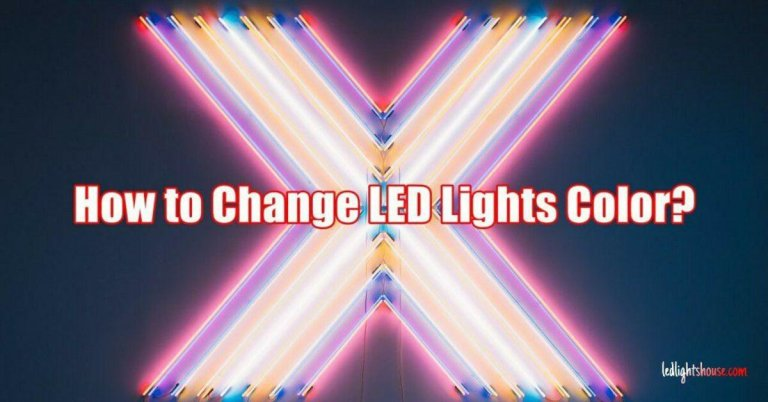 how to change led lights color
