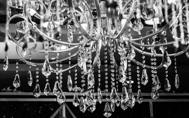 how to clean old chandelier