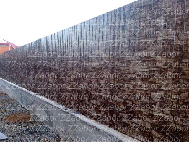 Колтуши, Забор из коричневого профлиста 120 метров, стоимость 63000 рублей