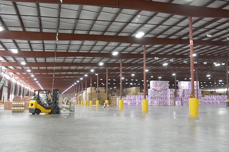 warehouse led lighting in the