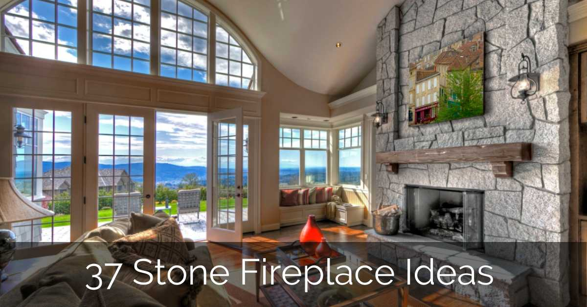 37 Stone Fireplace Ideas | Sebring Design Build – GLAMO Light Mirrors India.