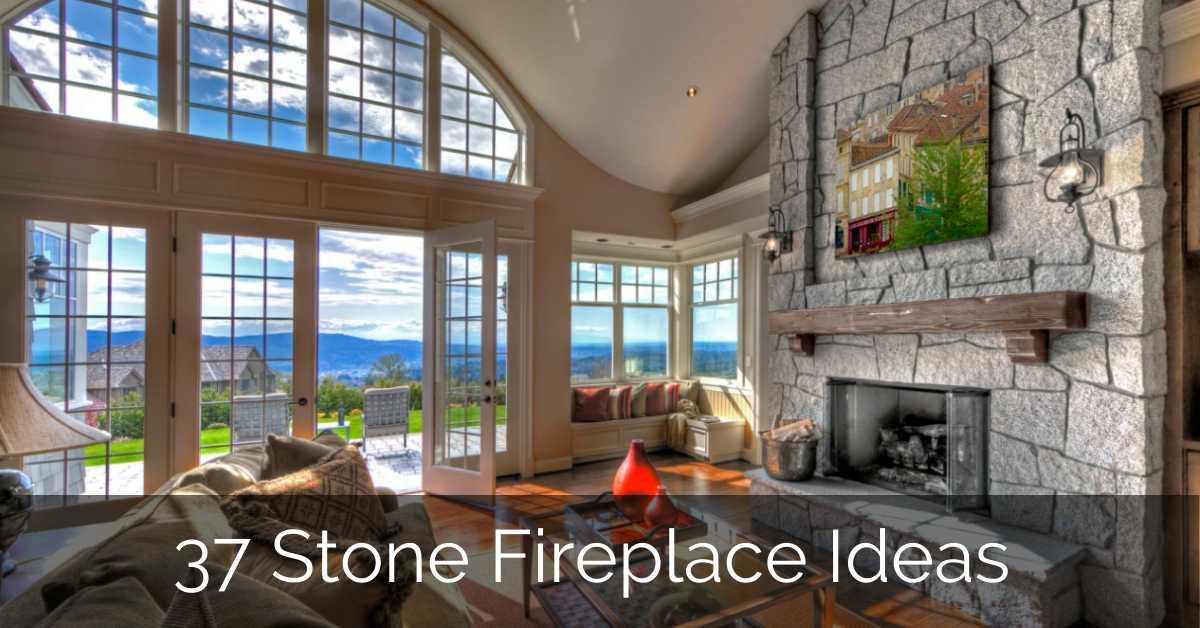 37 Stone Fireplace Ideas | Sebring Design Build – GLAMO Light Mirrors India.