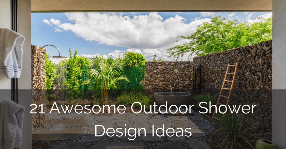21 Awesome Outdoor Shower Design Ideas – GLAMO Light Mirrors India.