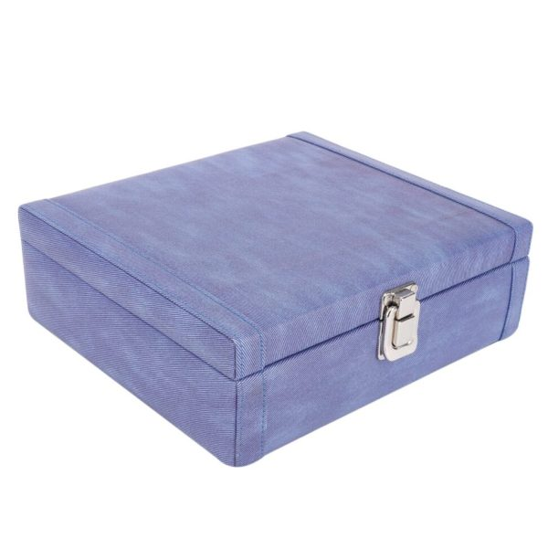 LEDO Watch box holder organizer case for Men and Women in Blue color with 8 slots of watches