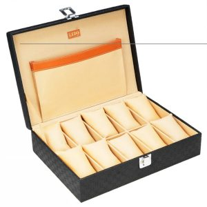 LEDO Watch Box in Black Color with 10 Slots of Watches