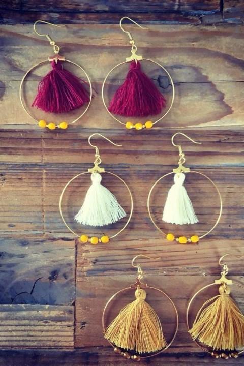 3 paires de boucles d'oreilles de la boutique de Bichette