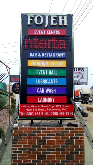 signages in port harcourt