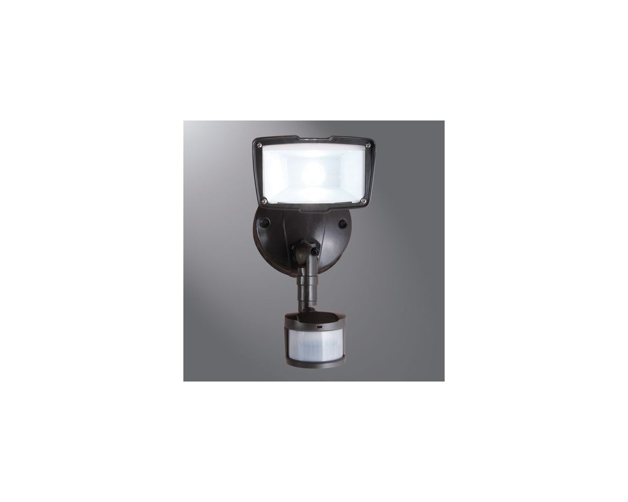 cooper lighting 110 degree motion small single led floodlight energy star bronze