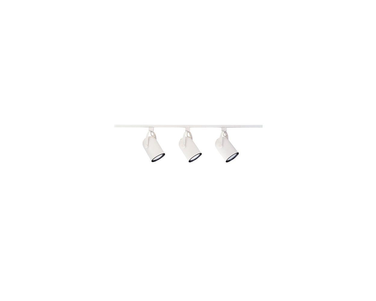 nicor 10989wh 4 ft white 3 light linear track lighting kit complete